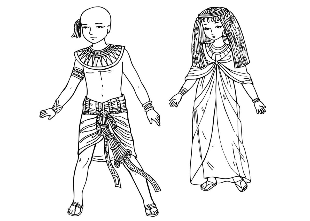 Colorear NiÑos Del Mundo: Los Niños Del Antiguo Egipto