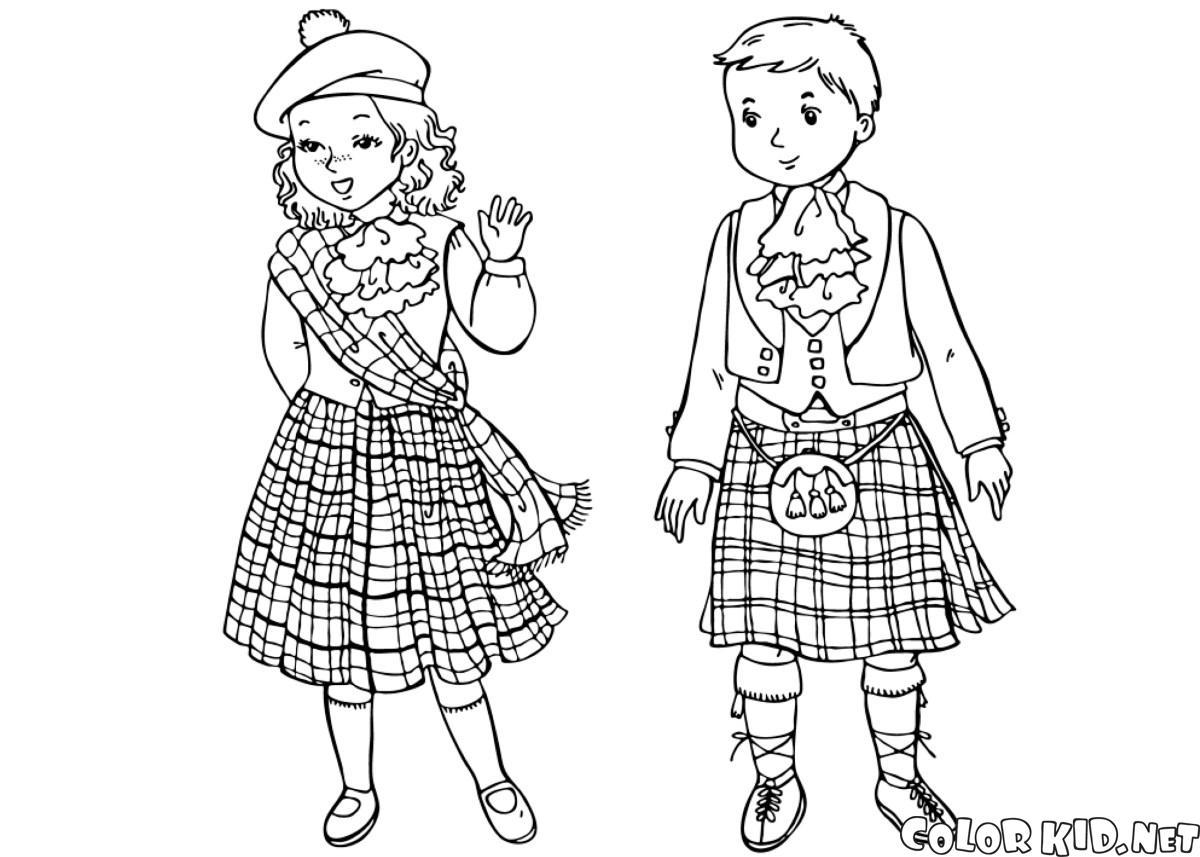 Niños escoceses