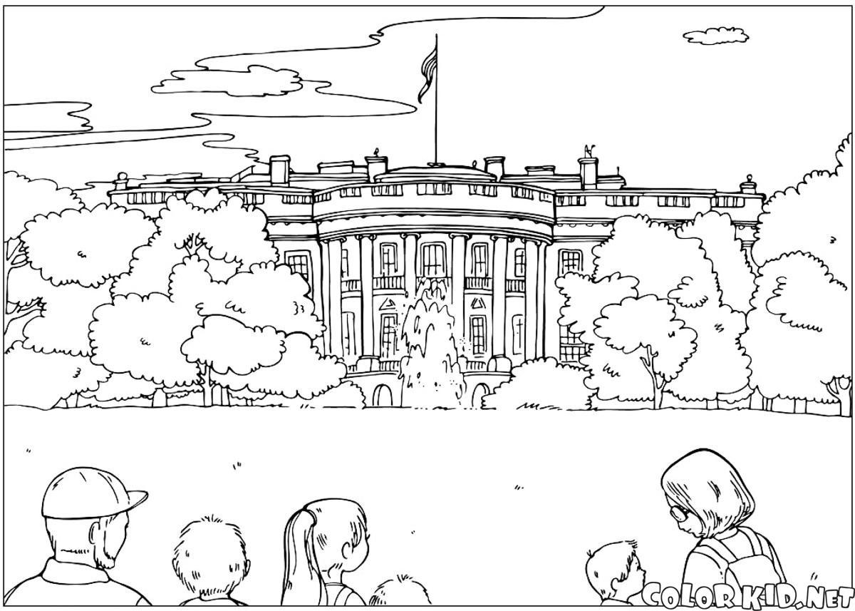 Dibujo para colorear - Monumento a Washington