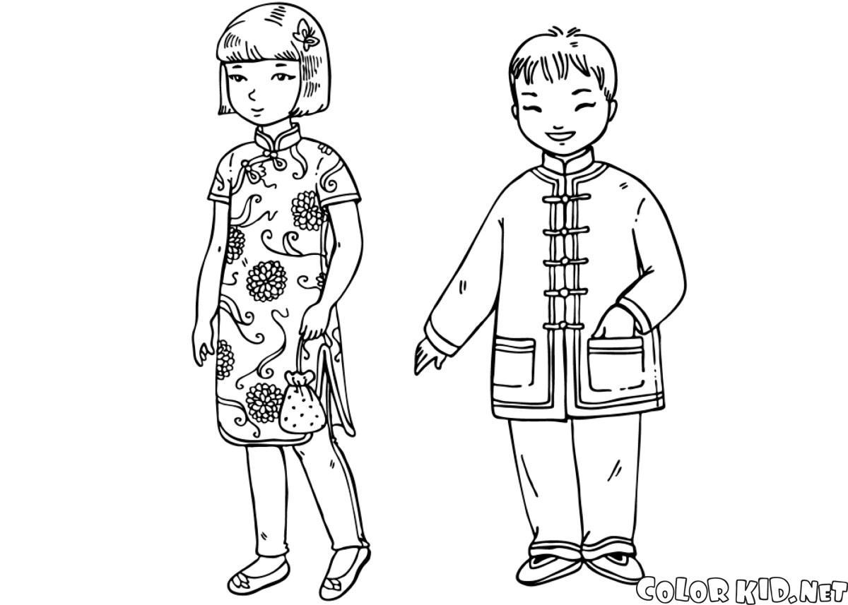 Dibujo para colorear ni os en trajes tradicionales - Fogli da colorare per la marmotta diurna ...