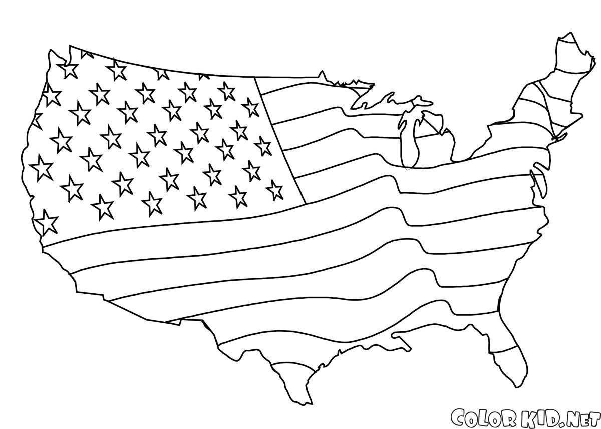 Excelente Estados Unidos Para Colorear Colorear Imágenes - Dibujos ...