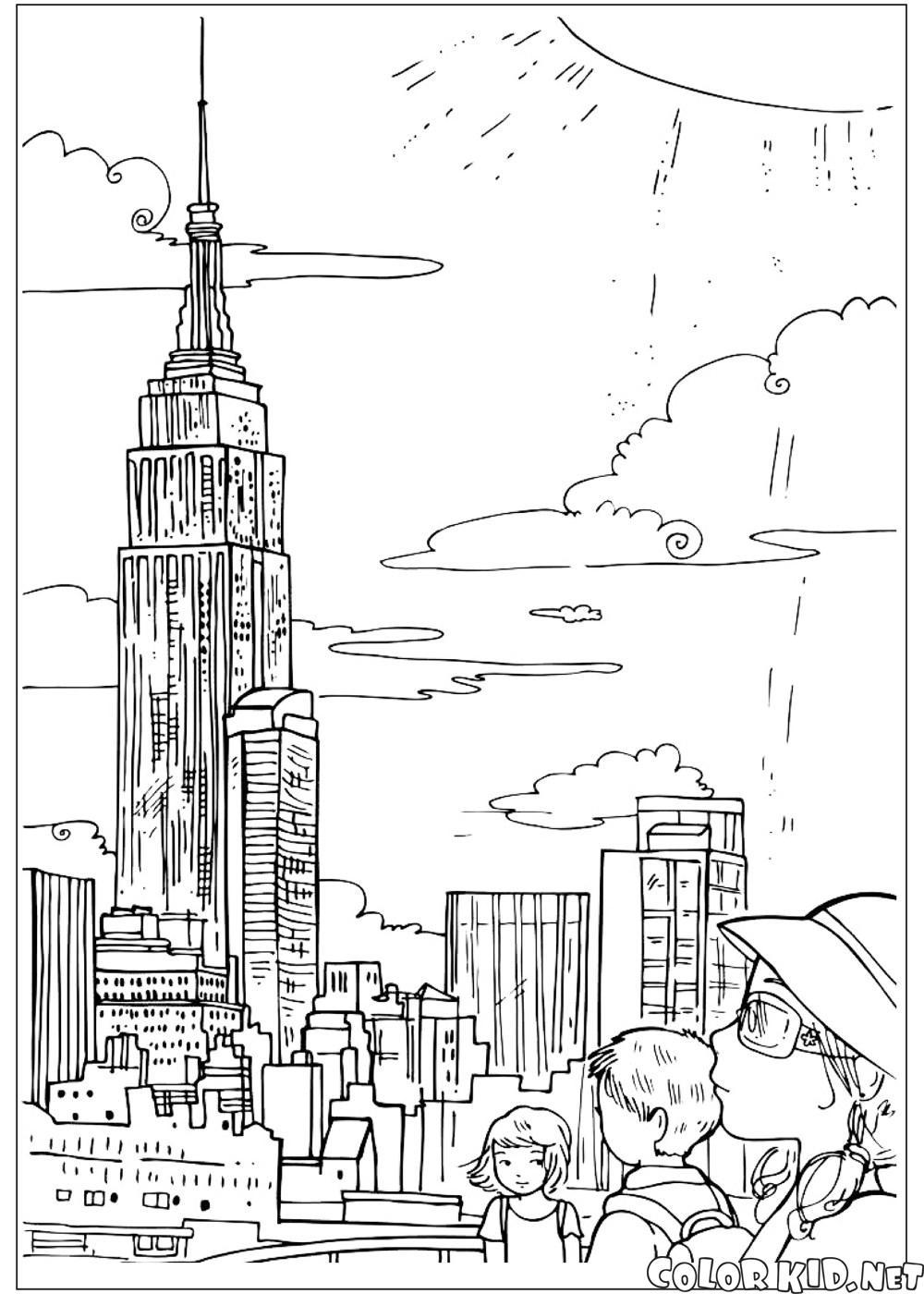 Dibujo para colorear - Estados Unidos de América