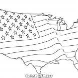 Bandera Americana Mapa